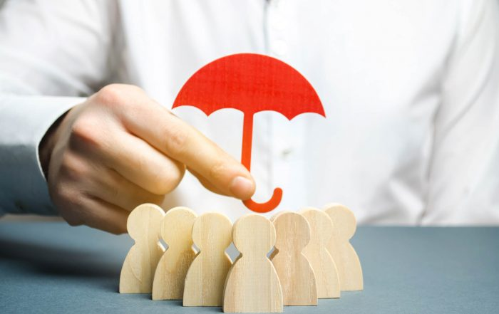 BMDG Group Life Insurance Policies Umbrella Over People